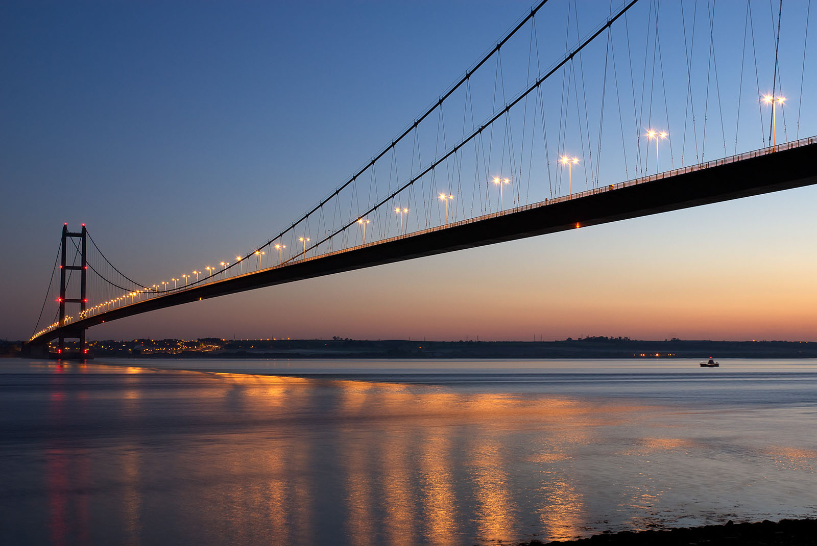 Humber Bridge at Dusk