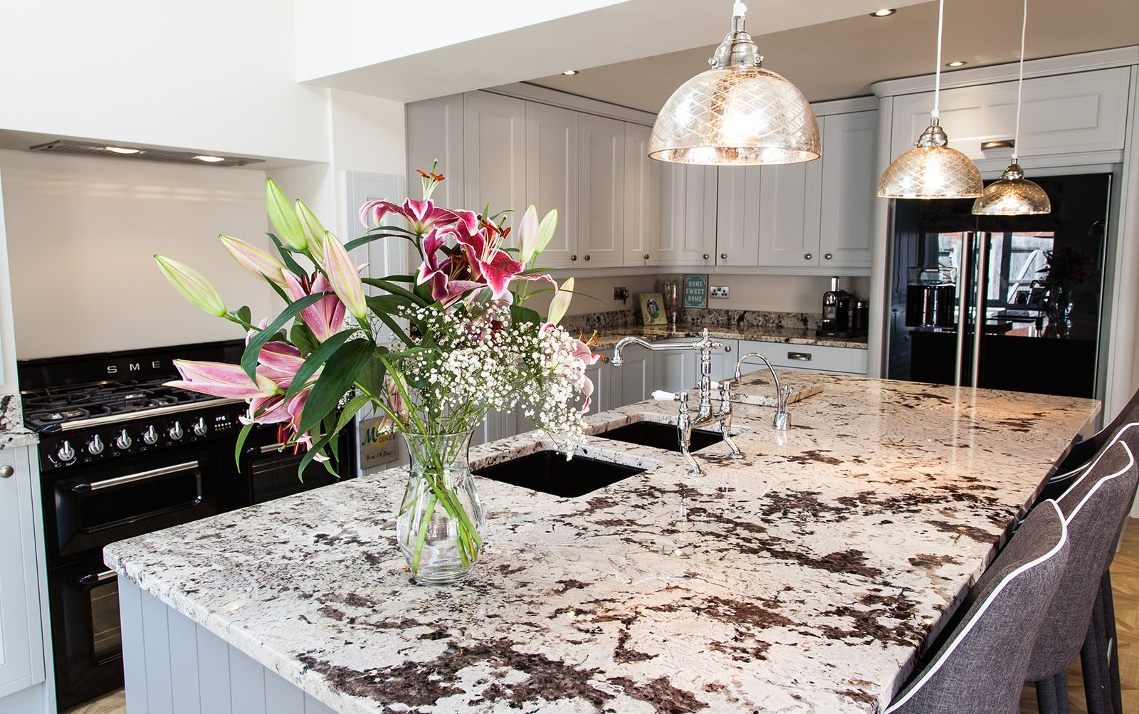 Kitchen with Flowers